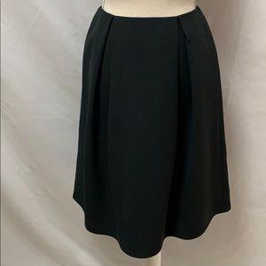 Chelsea28 black box pleat skirt with back zipper